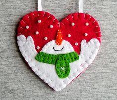 Muñeco de nieve de Navidad adornos de árbol fieltro muñeco