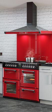 35 Top Red Kitchen Design Ideas Trends to Watch for in 2018 Red Kitchen, Kitchen Layout, Rustic Kitchen, Kitchen Backsplash, Vintage Kitchen, Kitchen Design, Kitchen Decor, Kitchen Appliances, Backsplash Ideas