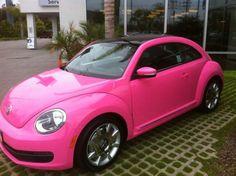 New 2013 Pink and Black Volkswagon Bug..I want this car