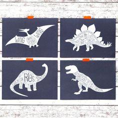 Dinosaur Print Funny T-Rex Butcher's Cuts by WeArePaperPlane
