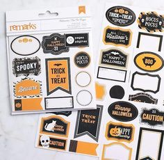 Small Halloween Sticker Labels