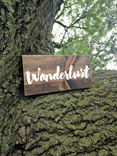 Wanderlust, Wanderlust Sign, Not all who wander are lost, Rustic Decor, Nature Decor, Woodland Decor, Rustic Wood Sign, Woodland Nursery