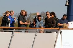 Bruce Springsteen and band enjoy a sightseeing tour on a boat in Stockholm. Featuring: Nils Lofgren. Where: Stockholm, Sweden. When: 06 May 2013.