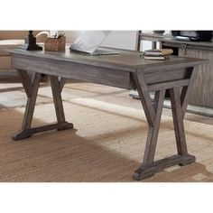 Liberty Furniture Stone Brook Laptop Desk in Rustic Saddle - from BEYOND Stores Outdoor Dining Furniture, Home Office Furniture, Industrial Furniture, Online Furniture, Furniture Outlet, Industrial Office Desk, Office Desks For Home, Bedroom Furniture, Furniture Buyers