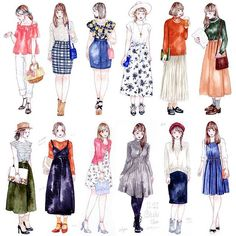 Fashion Ilustration Watercolor Dress New Ideas Fashion Ilustration Watercolor Dress New Ideas Fashion Mode, Cute Fashion, Trendy Fashion, Fashion Art, Girl Fashion, Drawing Fashion, Dress Fashion, Illustration Mignonne, Illustration Mode