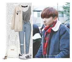 """""""Date w/ Kihyun (Monsta X)"""" by a-kookie ❤ liked on Polyvore featuring Topshop, adidas Originals, River Island, monstax, kihyun and YooKihyun"""
