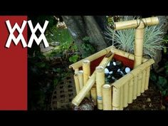 Japanese bamboo fountain which makes a clacking noise intended to scare away deer. I made mine as a all-in-one unit, but you can make them in a lot of different ways.    Witness the full shishi-odoshi experience: http://www.youtube.com/watch?v=SPVTCDeMqhU  Follow-u...