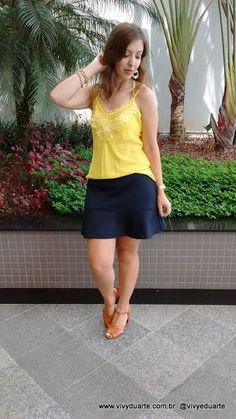 Vivy Duarte: Look do Dia: Amarelinho