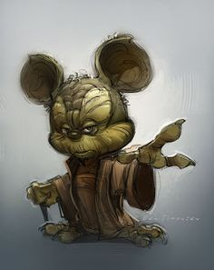 New design for Yoda in Episode VII !!! hahahah *Yodickey - Ben Simonsen