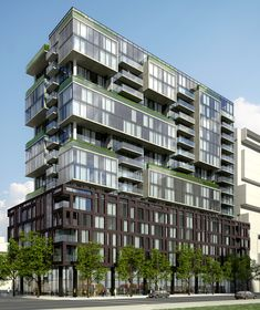 a new construction project in Toronto with 9 different three bed layouts. Developers are finally listening.families want condos/lofts! MSG me 4 details as VIP event is April Condominium Architecture, Green Architecture, Architecture Design, Building Facade, Building Design, Facade Design, Exterior Design, Residential Complex, Social Housing