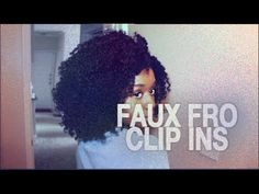 Kinky Curly Clip Ins l Faux Fro l 20 Minute Twist Out - YouTube
