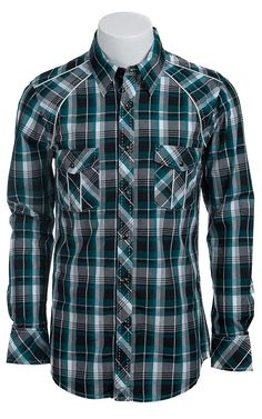 Rock & Roll Cowboy Men's L/S Western Snap Shirt B2S5112
