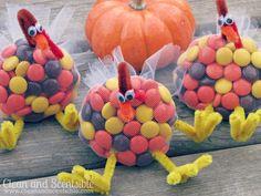 Turkey Treats, So adorable! Really cute craft & favor {Clean & Scentsible}