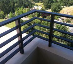 Aluminum flat bar railing 5