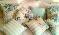 Pack X 3 Almohadones Shabby Chic Vintage Decorativos Grandes - $ 525,00 en MercadoLibre