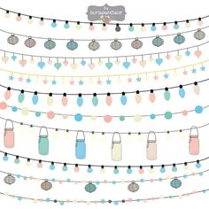 String Lights Clipart By Burlapandlace On Creative Market