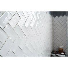 Faïence mur gris clair, Bakerstreet l.7.5 x L.15 cm