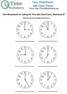 teaching time 1st grade | Printable clocks for kids learning - my online portfolio for you to ...