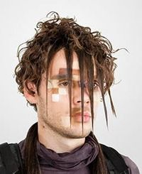 Camouflage from face detection. CV Dazzle explores how fashion can be used as camouflage from face-detection technology, the first step in automated face recognition. Dazzle Camouflage, Facial Recognition Software, New Scientist, Last Minute Costumes, The Future Is Now, Natural Hair Styles, Hair Cuts, Dreadlocks, Tatoo