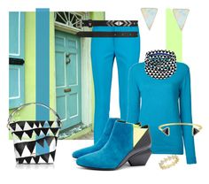 """""""Azure and Lime"""" by kelli-bailey-ouimet ❤ liked on Polyvore featuring Raoul, CITYSHOP, UN United Nude, Erica Weiner, Hollywood Trading Company, Vivienne Westwood, Labour of Love, Anne Sisteron and Versace 19•69"""