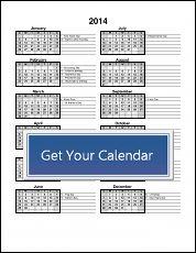 Quarterly Calendar Template P  Free Printable Templates