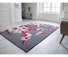 Covor imprimeu floral, 80x150cm, Stil modern, Blossom - hoome.ro