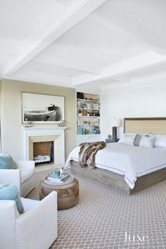 Contemporary White Master Bedroom