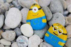 Lustige Minion Steine malen mit deinen Kids // paint funny minion stones with your kids