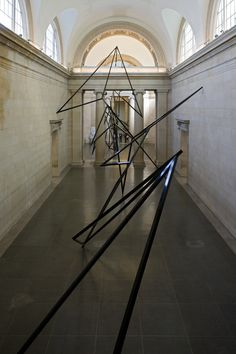 Eva Rothschild, Cold Corners. 2009, installation at Tate Britain, powder coated aluminium