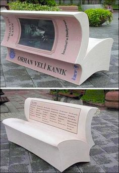 Book as Branded Bench.