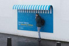 Smart Billboards by IBM These billboards by creative agency Ogilvy & Mather can be used as street furniture. Designed for IBM's Smarter Cities campaign, they fuse advertising with helpful additions to. Street Marketing, Guerilla Marketing, Event Marketing, Business Marketing, Environmental Graphics, Environmental Design, Creative Advertising, Advertising Ideas, Advertising Agency