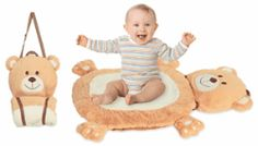 Bear Mat-N-Bag Set, perfect for traveling families! #baby