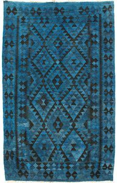 Vendimia Rugs Overdye Avoca Blue Rug | Contemporary Rugs