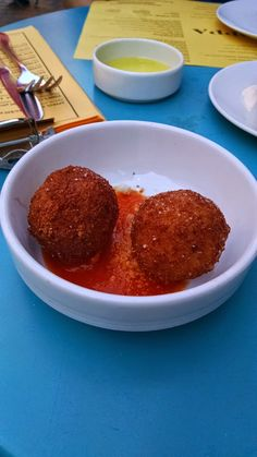 Fried Fontina Bites in tomato gravy