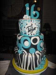 Blue sweet 16 cake Sweet 16 cakes 16 cake and Blue sweets