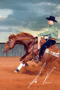 Josh Visser, Visser Reining Horses My boss and my favorite boy to ride Uno :)