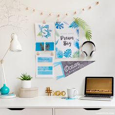 Center yourself to stay engaged in a stressful academic environment. Create a private oasis in your dorm with our printable set of tropical dorm room decor! MichaelsMakers Lia Griffith