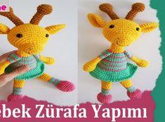 Amigurumi Bebek Zürafa Yapımı Chrochet, Amigurumi Patterns, Tweety, Ideas Para, Origami, Diy And Crafts, Dinosaur Stuffed Animal, Anne, Animals