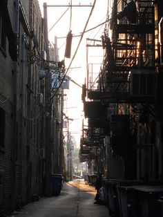 Factionless. an alley in chicago chinatown. Divergent