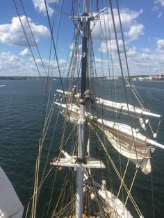 Looking forward from the topgallant sail! #38thVoyage