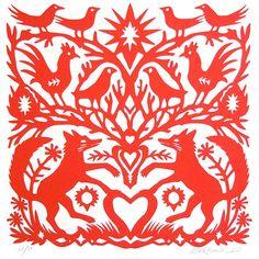 Papercut Foxes