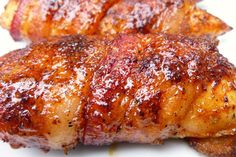 Bacon-Wrapped Chicken Tenders are as moist and delicious as they look! Bacon Recipes, Grilling Recipes, Cooking Recipes, Keto Recipes, Cooking Rice, Cooking Salmon, Healthy Recipes, Sauce Recipes, Cooking Ideas