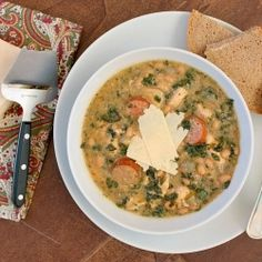 Slow cooker chicken stew with sausage, white beans, and spinach--a ...