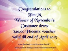 $20 voucher winner for customer draw