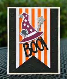 Krystal's Cards: Stampin' Up! Howl-o-ween Treat Boo! #stampinup #krystals_cards #howloweentreat #halloweencard #handstamped #papercrafts #cardmaking #bootoyou