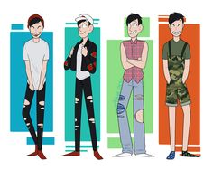 """plague-cactus: """"some of my favorite outfits from Phil's fashion video! """""""