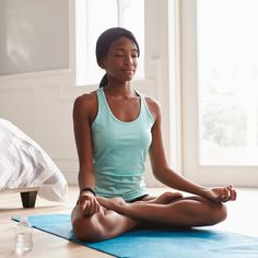 The physical benefits of yoga are undeniable, and many people know that yoga is good for weight loss, posture, flexibility, and more. What many people don't realize is that yoga is also good for the brain. When combined wit Shoulder Pain Relief, Neck And Shoulder Pain, Pilates, Fitness Del Yoga, Lotus Pose, Lotus Position, Meditation Apps, Meditation Rooms, Yoga Moves
