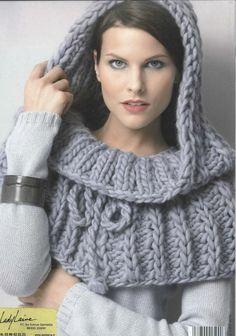 TUTO  Tricoter une écharpe à capuche au point d'astrakan (TUTO VIDEO) pour