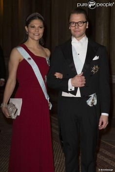 Crown Princess Victoria and Prince Daniel at dinner for the Nobel Laureates at the Royal Palace in Stockholm.