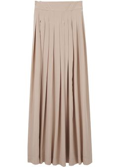 neutral maxi skirt